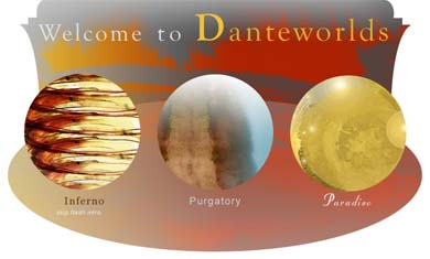 The site is structured around a visual representation of Dante's worlds: it ...