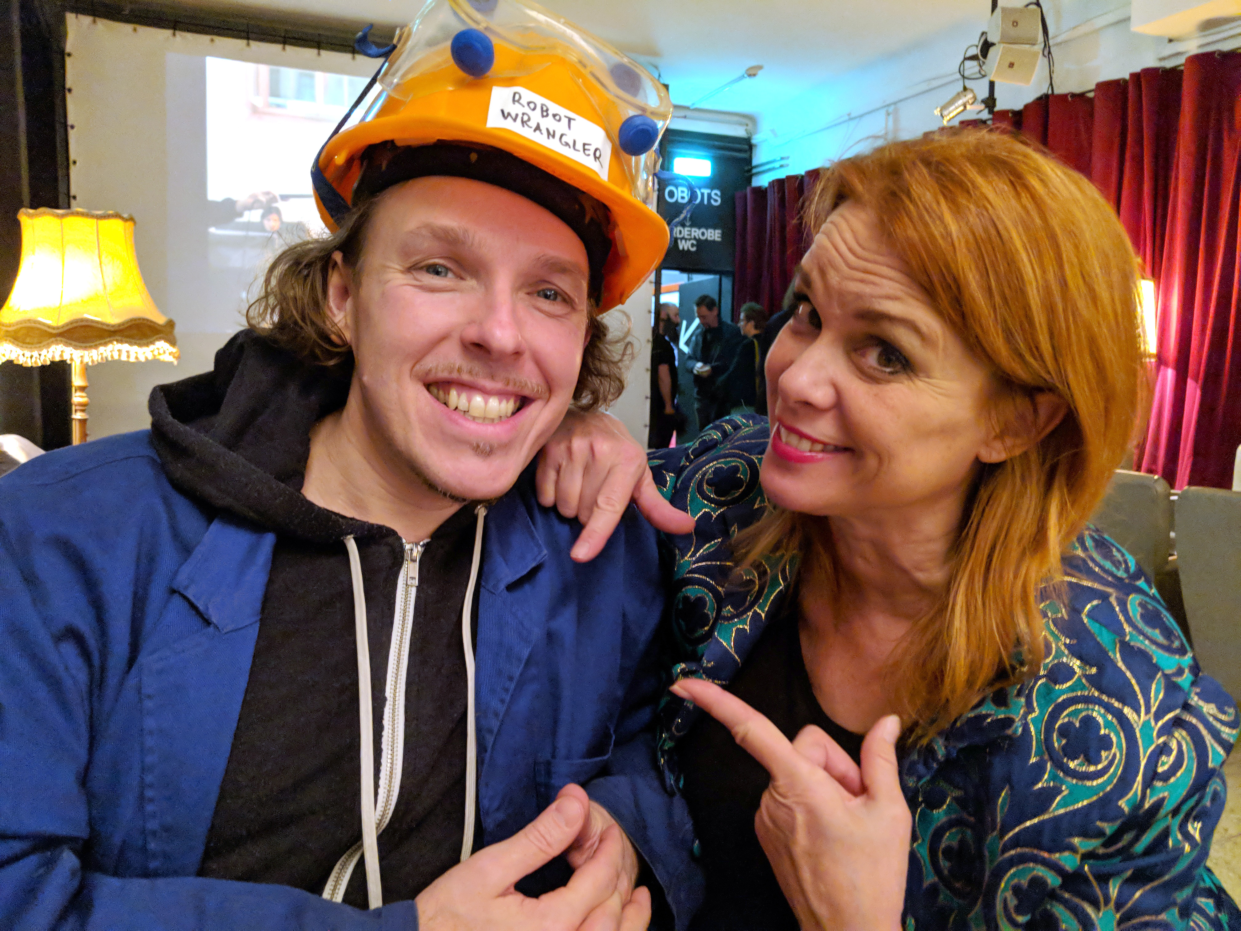 Johannes Grenzfurthner and Chase Masterson