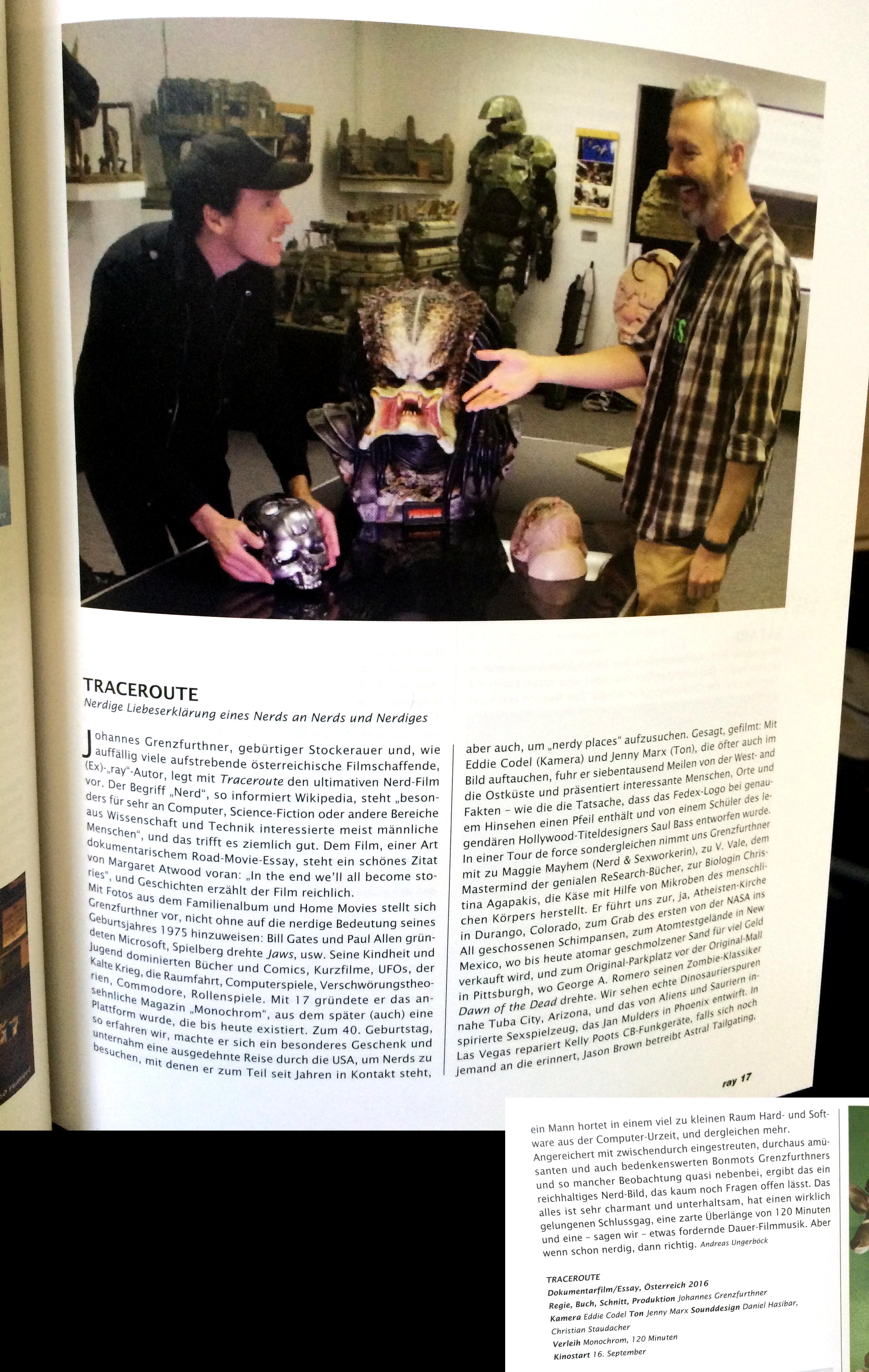 traceroute ray filmmagazin